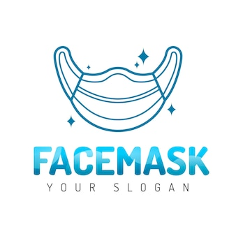 Creative medical mask logo template