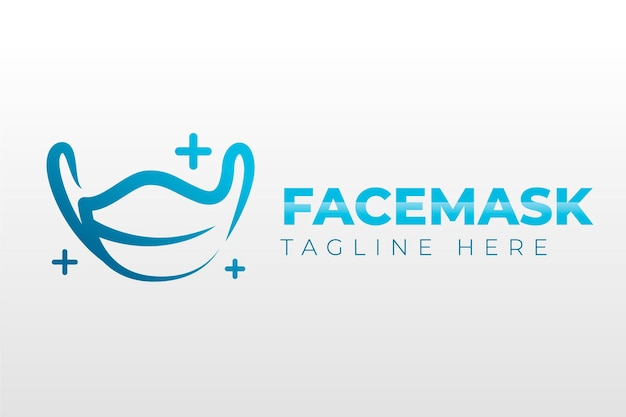 Creative medical mask logo