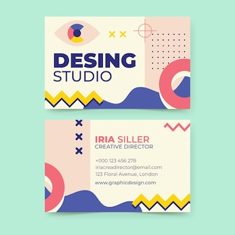 Creative memphis design business card