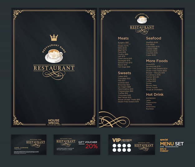 Creative menu template