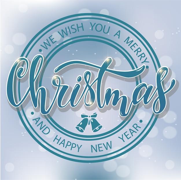 Creative merry christmas greeting card design