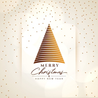 Creative merry christmas tree greeting background