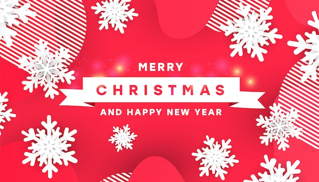 Creative merry christmas vector illustration design card template
