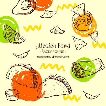 Creative mexican food background