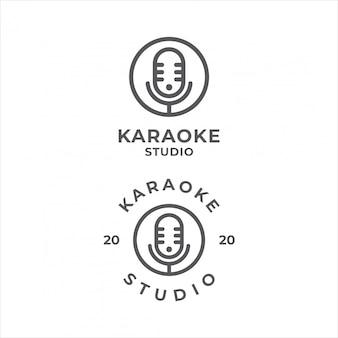 Creative microphone logo design.