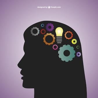 創造的な心のベクトルテンプレート