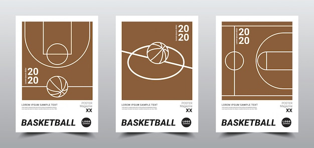 Creative minimal basketball poster template