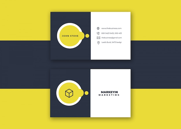 Creative minimal clean colorful vector design corporate design business card for print