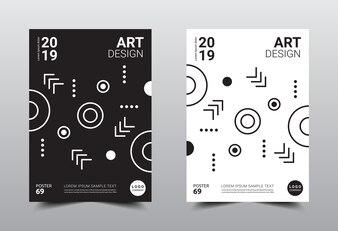 Creative minimal design template.