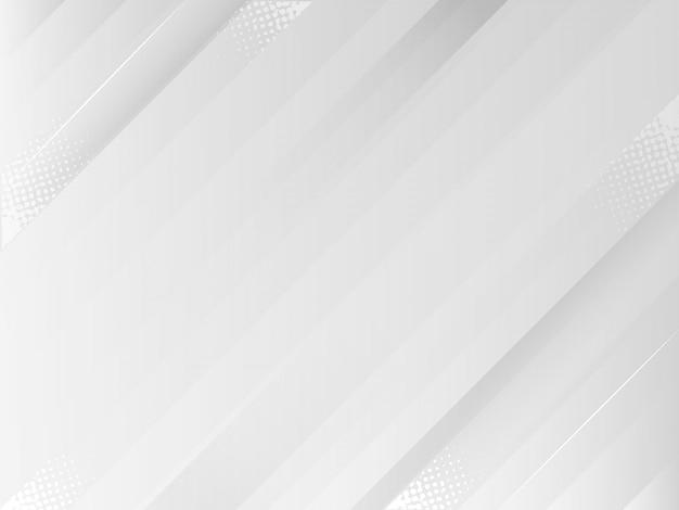 동적 모양으로 창조적 인 최소한의 기하학적 추상 흰색과 회색 색상 배경 벽지.