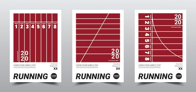 Creative minimal running poster template