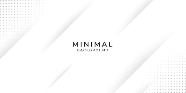 クリエイティブな最小限の白い背景デザイン