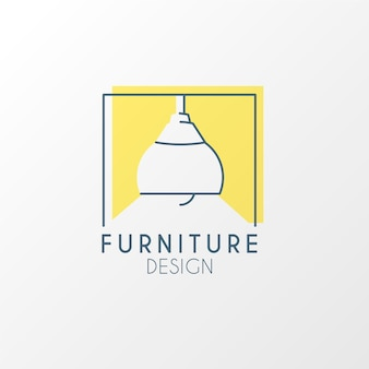 クリエイティブなミニマリストの家具ロゴデザイン