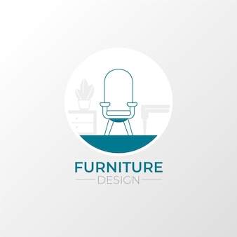 Creative minimalist furniture logo template