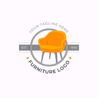 クリエイティブなミニマリストの家具ロゴ