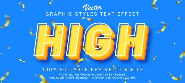 Creative minimalist pop text style effect