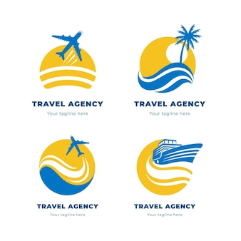 Creative minimalist travel logos