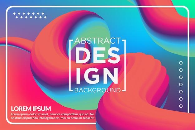 Жидкая волна creative modern 3d flow разноцветный фон