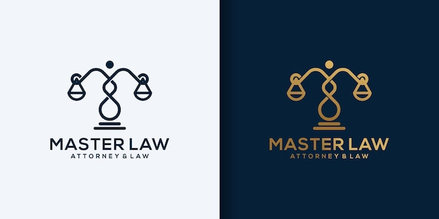 Creative modern abstract law logo design icon template