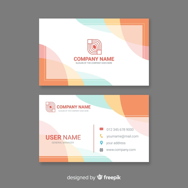 Free Creative Modern Business Card Template SVG DXF EPS