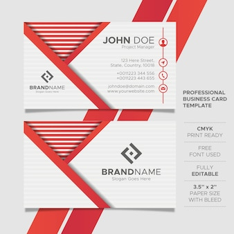 Creative modern business card template