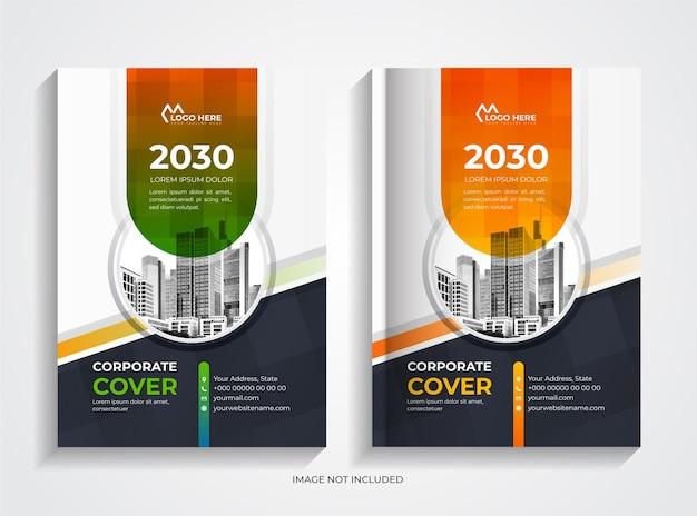 Creative modern corporate book cover template set