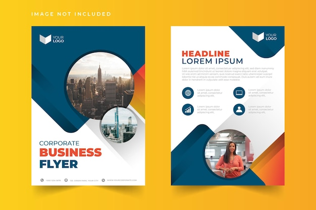 Creative modern corporate business flyer template set