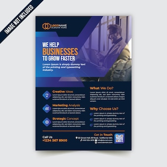 Creative modern corporate business flyer template