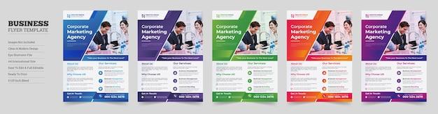 Креативный современный дизайн корпоративного флаера корпоративный флаердизайн корпоративного бизнес-флаера