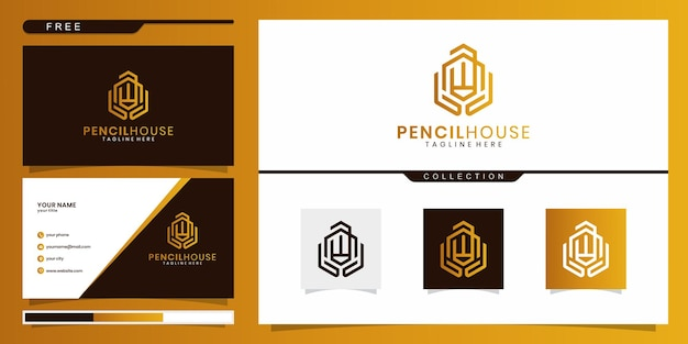 창의적인 현대 교육 로고 디자인 및 명함