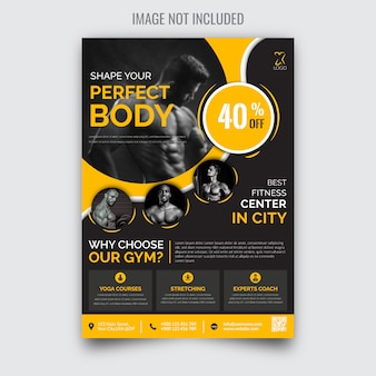Creative modern fitness gym flyer