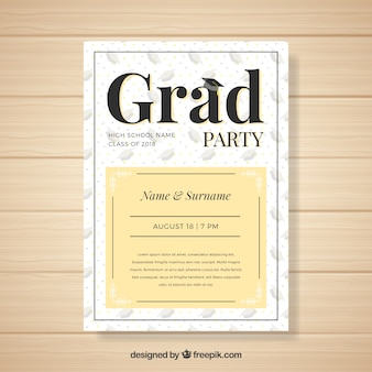 Creative modern graduation party invitation