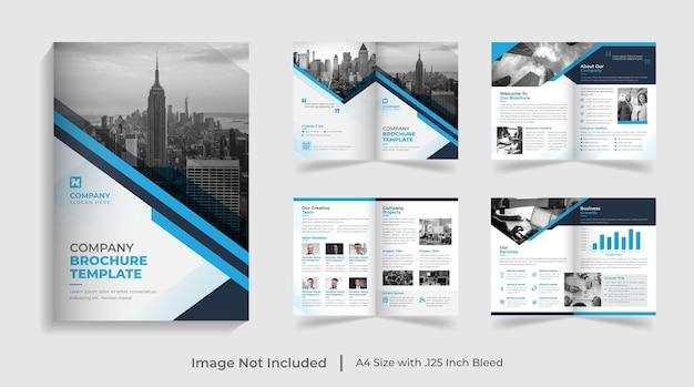 Creative modern multipage corporate landscape brochure template annual report company profile design