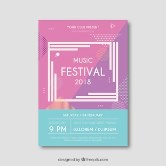 Creative modern music festival flyer