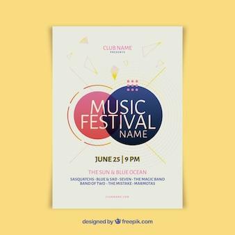 Creative modern music festival poster template