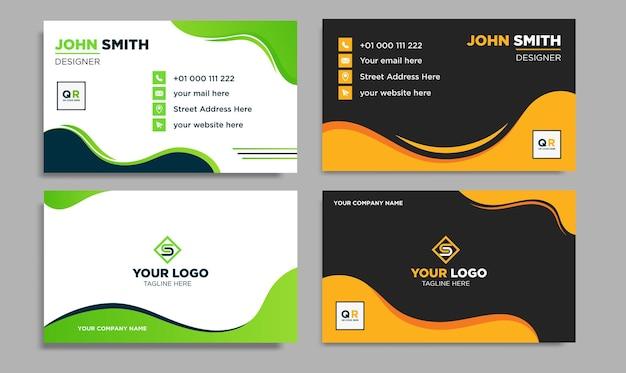 Креативный современный шаблон визитной карточки и визитки