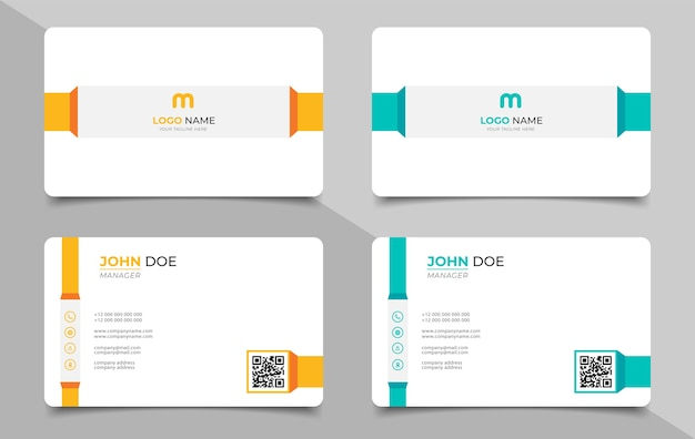創造的な現代の名前カードと名刺