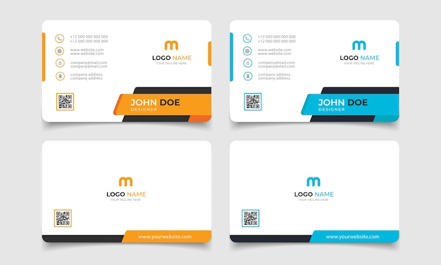 Creative modern name card and business card