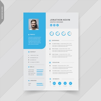 Creative modern resume template