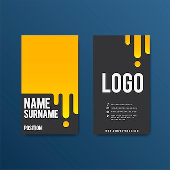 Creative modern retro business card design