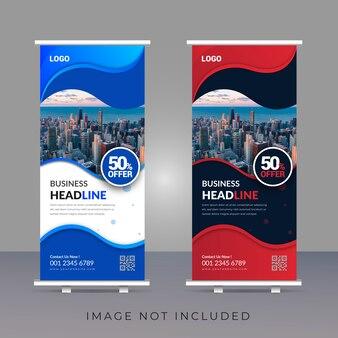 Creative modern roll up banner template design
