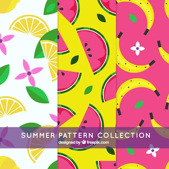 Creative modern summer pattern collection