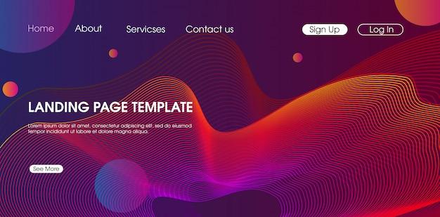 Creative modern trendy web template design vector