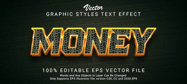 Creative money gold text style effect