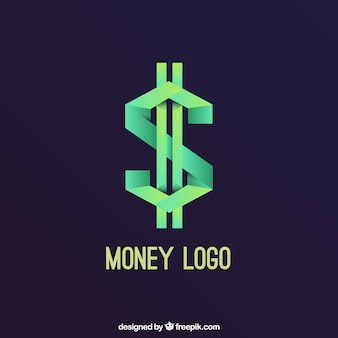 Creative money logo concept
