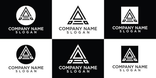 창조적 인 모노그램 문자 로고 디자인 템플릿