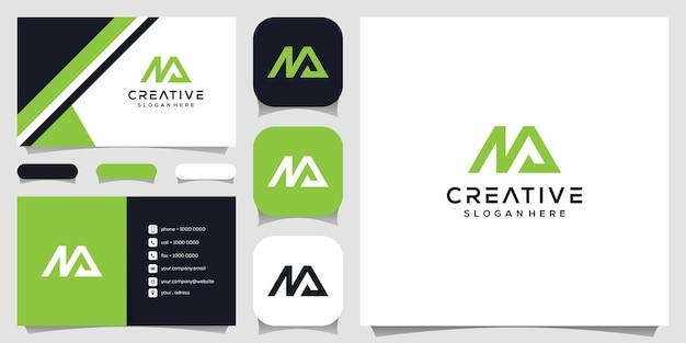 クリエイティブなモノグラム、mとaロゴデザインテンプレートの組み合わせ