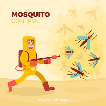 Creative mosquito control background
