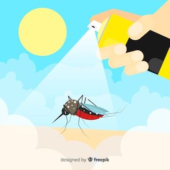 Creative mosquito control background
