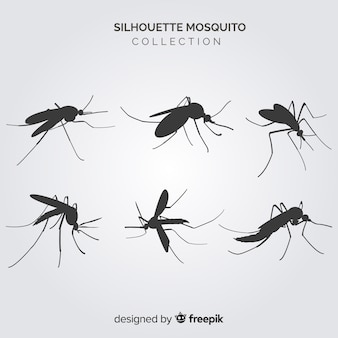 Creative mosquito silhouette collection